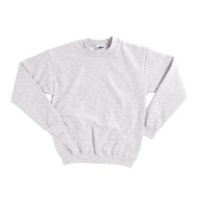Gildan 7.75 oz. Cotton Sweatshirt - Crew Neck (For Youth) in Light Grey Heather - 2nds