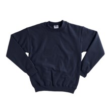 Gildan 7.75 oz. Cotton Sweatshirt - Crew Neck (For Youth) in Navy - 2nds