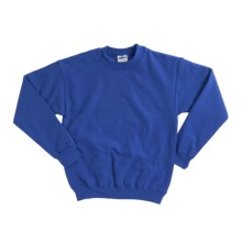 Gildan 7.75 oz. Cotton Sweatshirt - Crew Neck (For Youth) in Royal - 2nds