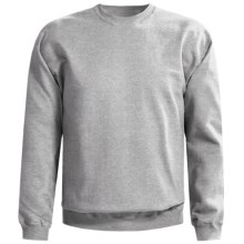 Gildan 9.5 oz. Sweatshirt - Cotton-Rich (For Men and Women) in Grey Heather - 2nds