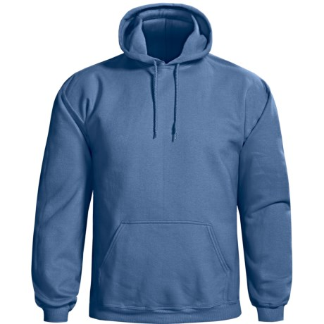 Gildan Cotton-Rich Hoodie (For Men and Women) in Grey Blue