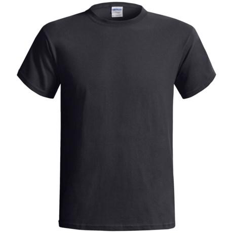 Gildan Cotton T-Shirt - 6.1 oz., Short Sleeve (For Men and Women) in Black