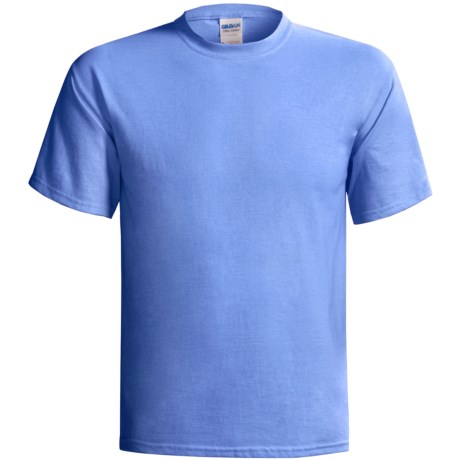 Gildan Cotton T-Shirt - 6.1 oz., Short Sleeve (For Men and Women) in Blue