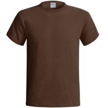 Gildan Cotton T-Shirt - 6.1 oz., Short Sleeve (For Men and Women) in Dark Brown - 2nds