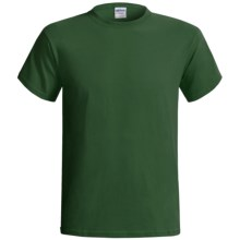Gildan Cotton T-Shirt - 6.1 oz., Short Sleeve (For Men and Women) in Dark Green - 2nds
