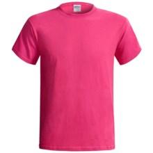 Gildan Cotton T-Shirt - 6.1 oz., Short Sleeve (For Men and Women) in Dark Pink - 2nds