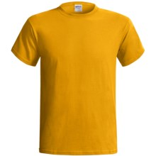 Gildan Cotton T-Shirt - 6.1 oz., Short Sleeve (For Men and Women) in Gold - 2nds