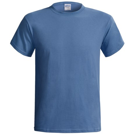 Gildan Cotton T-Shirt - 6.1 oz., Short Sleeve (For Men and Women) in Grey Blue