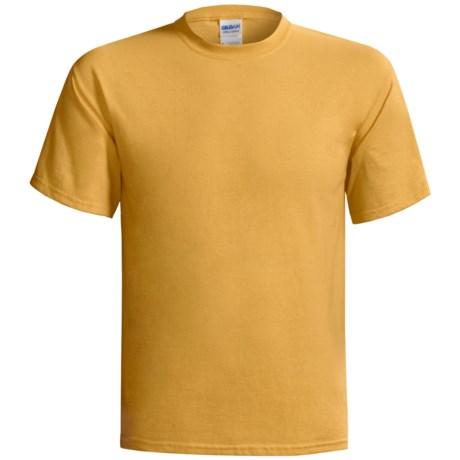 Gildan Cotton T-Shirt - 6.1 oz., Short Sleeve (For Men and Women) in Light Gold