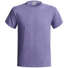 Gildan Cotton T-Shirt - 6.1 oz., Short Sleeve (For Men and Women) in Light Purple - 2nds