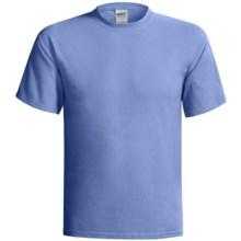 Gildan Cotton T-Shirt - 6.1 oz., Short Sleeve (For Men and Women) in Medium Blue - 2nds