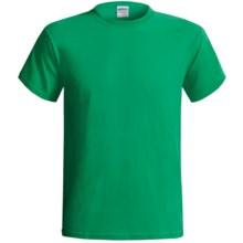 Gildan Cotton T-Shirt - 6.1 oz., Short Sleeve (For Men and Women) in Medium Green - 2nds