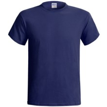 Gildan Cotton T-Shirt - 6.1 oz., Short Sleeve (For Men and Women) in Navy - 2nds