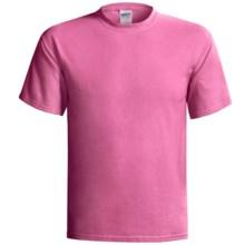 Gildan Cotton T-Shirt - 6.1 oz., Short Sleeve (For Men and Women) in Pink - 2nds