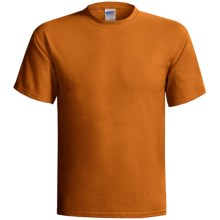 Gildan Cotton T-Shirt - 6.1 oz., Short Sleeve (For Men and Women) in Red Brown - 2nds