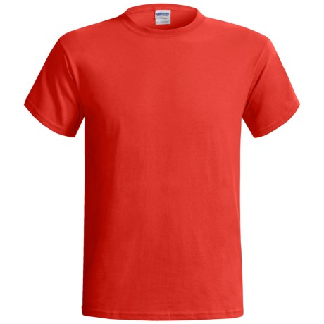 Gildan Cotton T-Shirt - 6.1 oz., Short Sleeve (For Men and Women) in Red