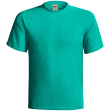 Gildan Cotton T-Shirt - 6.1 oz., Short Sleeve (For Men and Women) in Teal - 2nds