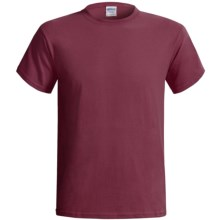 Gildan Cotton T-Shirt - 6.1 oz., Short Sleeve (For Men and Women) in Wine - 2nds