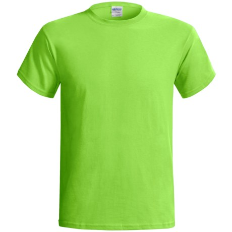 Gildan Cotton T-Shirt - 6.1 oz., Short Sleeve (For Men and Women) in Yellow Green