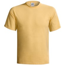 Gildan Cotton T-Shirt - 6.1 oz., Short Sleeve (For Men and Women) in Yellow - 2nds