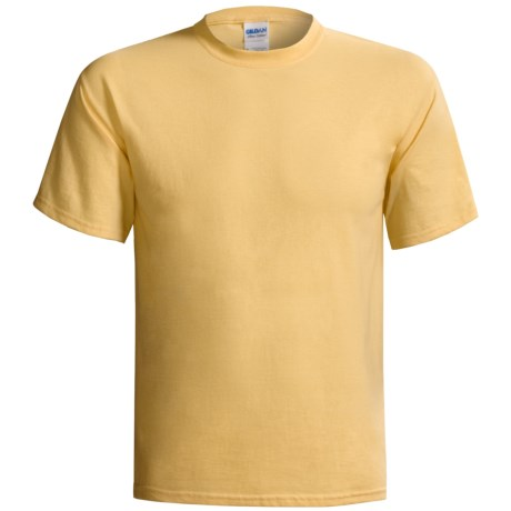Gildan Cotton T-Shirt - 6.1 oz., Short Sleeve (For Men and Women) in Yellow