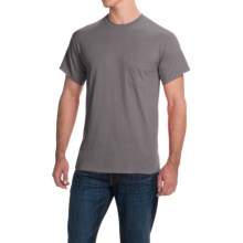 Gildan Cotton T-Shirt - Front Pocket, Short Sleeve (For Men and Women) in Dark Grey - 2nds