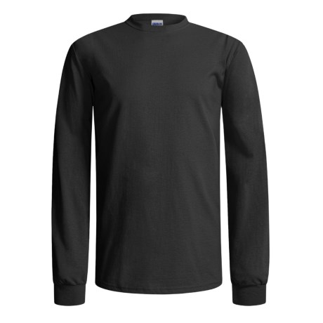 Gildan Cotton T-Shirt - Long Sleeve (For Men and Women) in Black