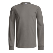 Gildan Cotton T-Shirt - Long Sleeve (For Men and Women) in Grey - 2nds