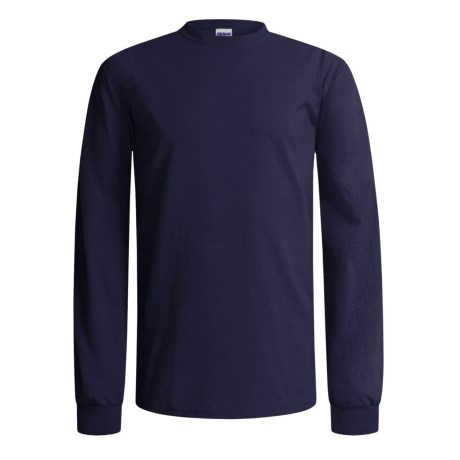 Gildan Cotton T-Shirt - Long Sleeve (For Men and Women) in Navy