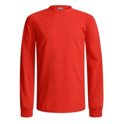 Gildan Cotton T-Shirt - Long Sleeve (For Men and Women) in Red