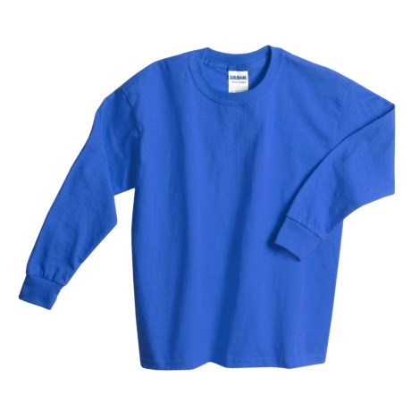Gildan Cotton T-Shirt - Long Sleeve (For Youth) in Royal