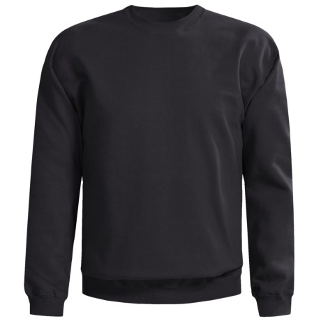 Gildan Crew Neck Sweatshirt (For Men and Women) in Black