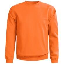 Gildan Crew Neck Sweatshirt (For Men and Women) in Fluorescent Orange - 2nds