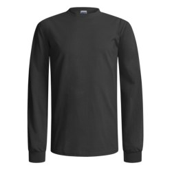 Gildan Crew Shirt - Long Sleeve (For Men and Women) in Grey Heather