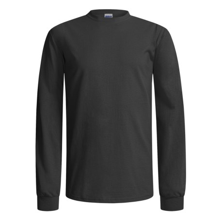 Gildan Crew Shirt - Long Sleeve (For Men and Women) in Black