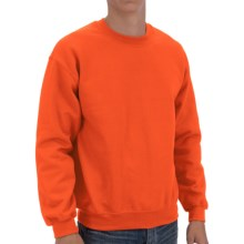 Gildan Crew Sweatshirt (For Men and Women) in Blaze Orange - 2nds