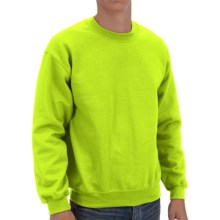 Gildan Crew Sweatshirt (For Men and Women) in Fluorescent Yellow - 2nds