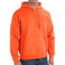 Gildan Heavy Blend Hoodie (For Men and Women) in Fluorescent Orange - 2nds