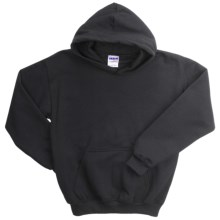 Gildan Heavy Blend Hoodie Sweatshirt - 7.5 oz. (For Youth) in Black - 2nds