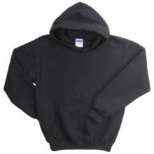 Gildan Heavy Blend Hoodie Sweatshirt - 7.5 oz. (For Youth) in Black - 2nds
