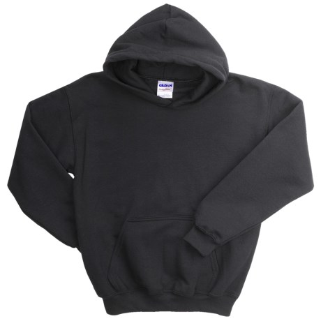Gildan Heavy Blend Hoodie Sweatshirt - 7.5 oz. (For Youth) in Black