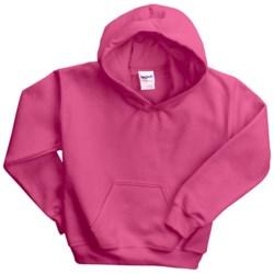 Gildan Heavy Blend Hoodie Sweatshirt - 7.5 oz. (For Youth) in Dark Pink