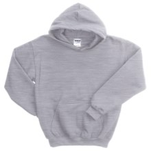 Gildan Heavy Blend Hoodie Sweatshirt - 7.5 oz. (For Youth) in Grey Heather - 2nds