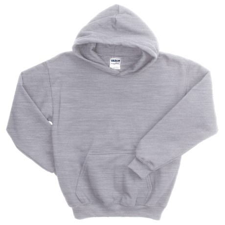 Gildan Heavy Blend Hoodie Sweatshirt - 7.5 oz. (For Youth) in Grey Heather
