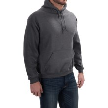Gildan Hooded Sweatshirt - 7.75 oz. Ultra-Blend (For Men and Women) in Charcoal Heather - 2nds