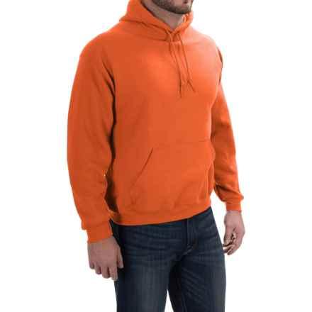 Gildan Hoodie - 7.75 oz. Ultra-Blend (For Men and Women) in Fluorescent Orange - 2nds