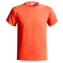 Gildan T-Shirt - Short Sleeve (For Men and Women) in Florescent Orange - 2nds