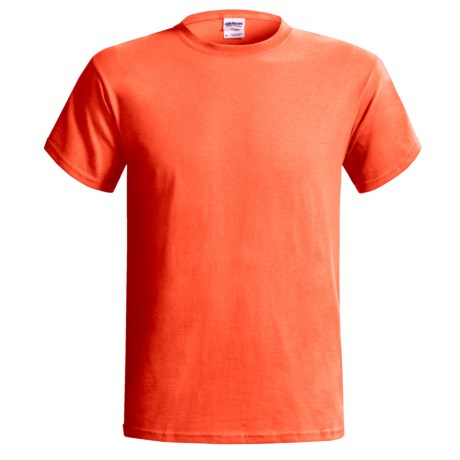 Gildan T-Shirt - Short Sleeve (For Men and Women) in Florescent Orange