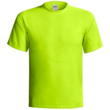Gildan T-Shirt - Short Sleeve (For Men and Women) in Florescent Yellow - 2nds