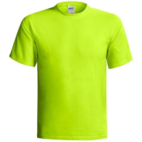 Gildan T-Shirt - Short Sleeve (For Men and Women) in Florescent Yellow